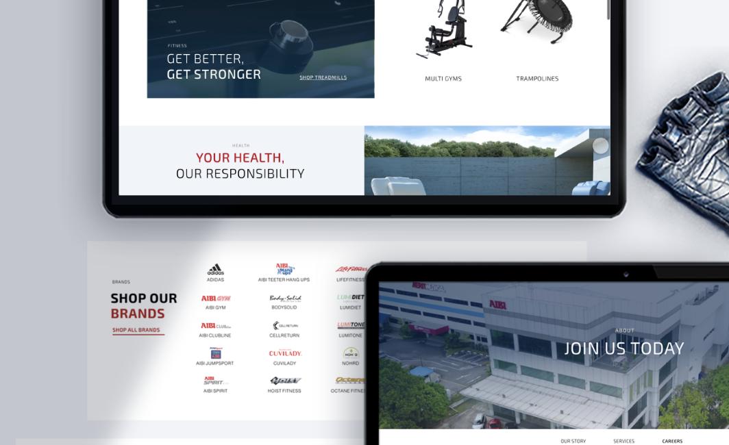 Aibi Fitness Website Design