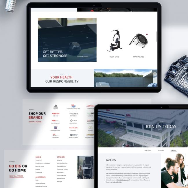 Aibi Fitness Website Design